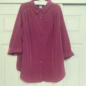 Silk-Like Feel 3/4 Sleeve Blouse